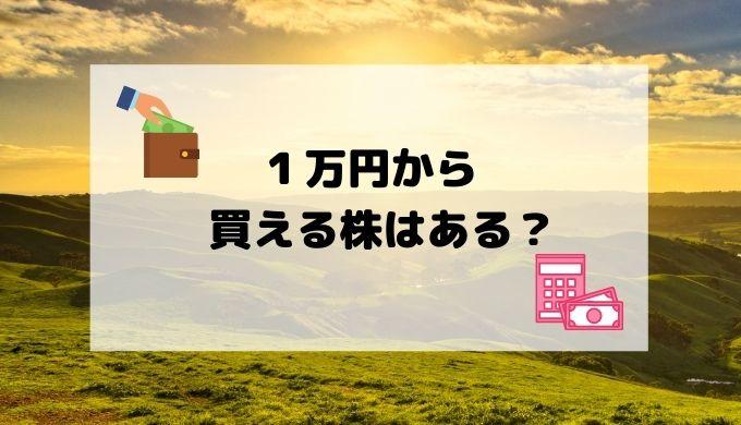 1万円から買える株はある?